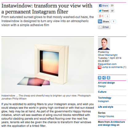 Instawindow … The cheap and cheerful way to brighten up your view.